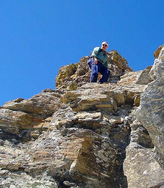 Flinsch Peak summit block