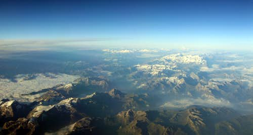 Western Alps Aerial View