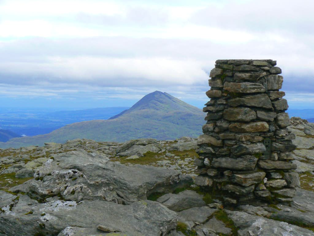 Beinn Narnain trig point and Ben Lomond