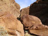 Petroglyphs near AZ hot springs