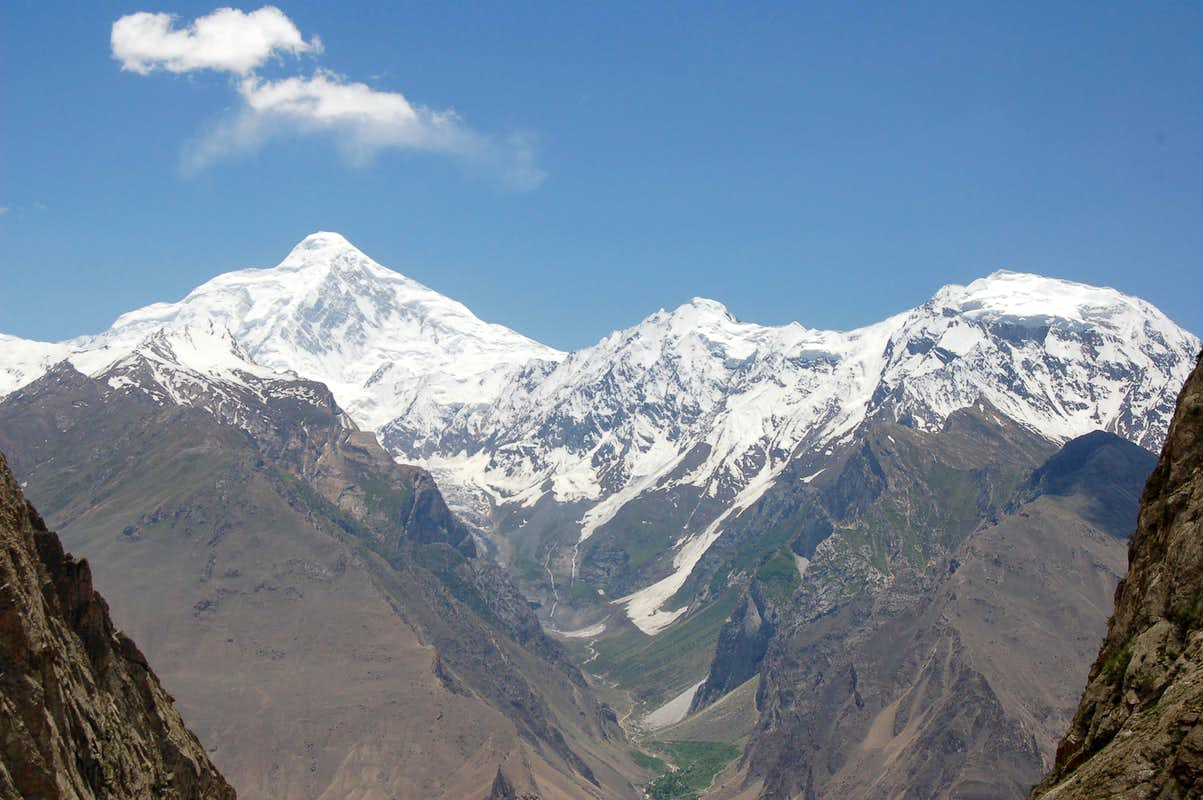 diran peak 7266m pheker peak 5465m and mirshikar