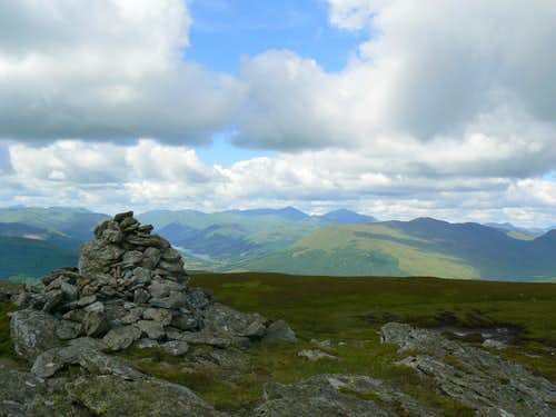 Looking west from the summit of Ben Our