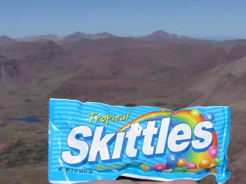 Skittles on Kings Peak