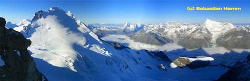 Dom, Matterhorn & Weisshorn