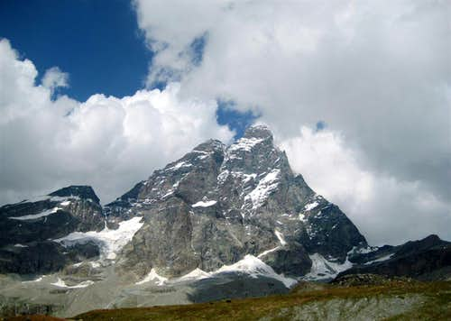 View of Monte Cervino from Cervinia
