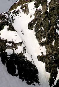 Zoom of the NE Couloir, with descent track