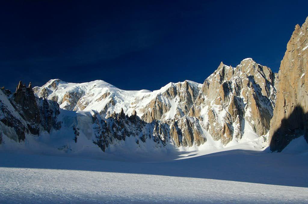 Mont Blanc de Courmayeur, Mont Blanc, & Mont Maudit from the Cirque Maudit