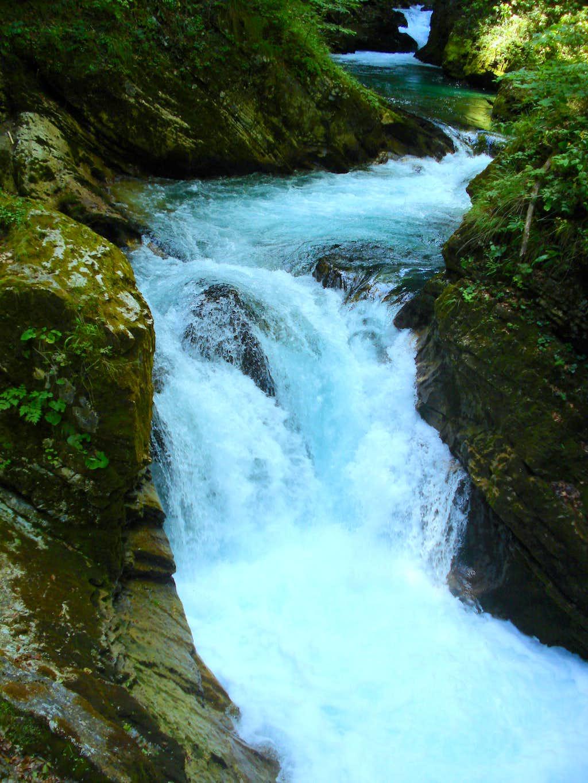 Radovna waterfall