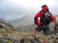 Pass south of Isolation Peak