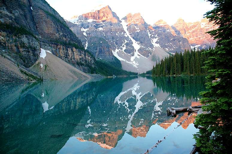 Valley of the Ten Peaks Reflection on Moraine Lake