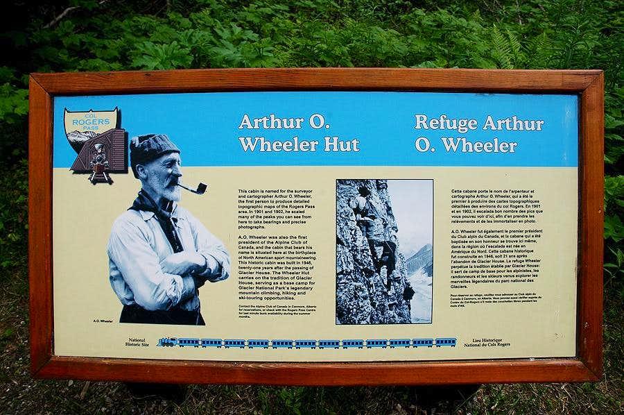 A. O. Wheeler Hut Sign