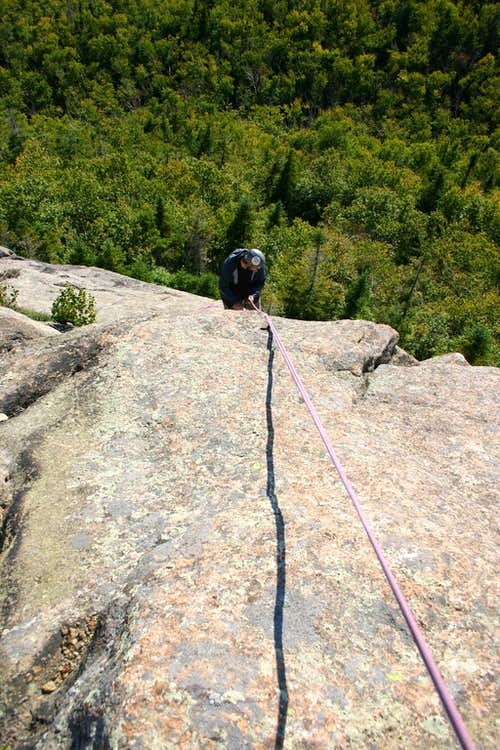 Rappel from the summit