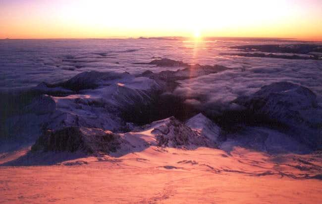 Sunrise on the Emmons...