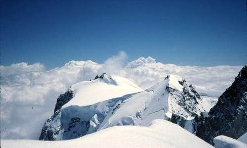 Dufourspitze. Route from...