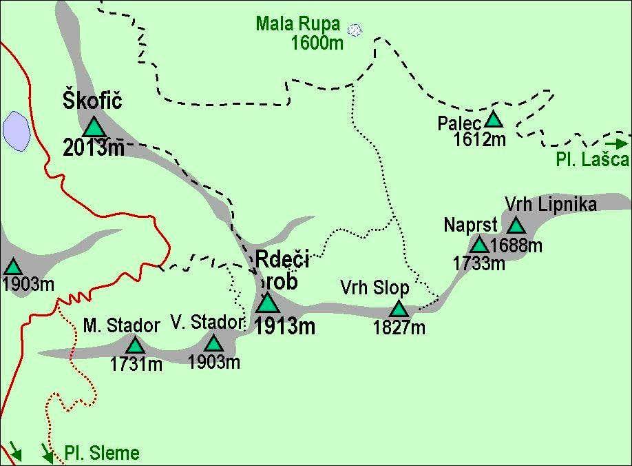 Rdeci rob map