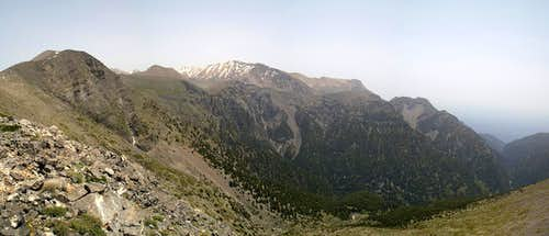 Looking across Samaria Gorge