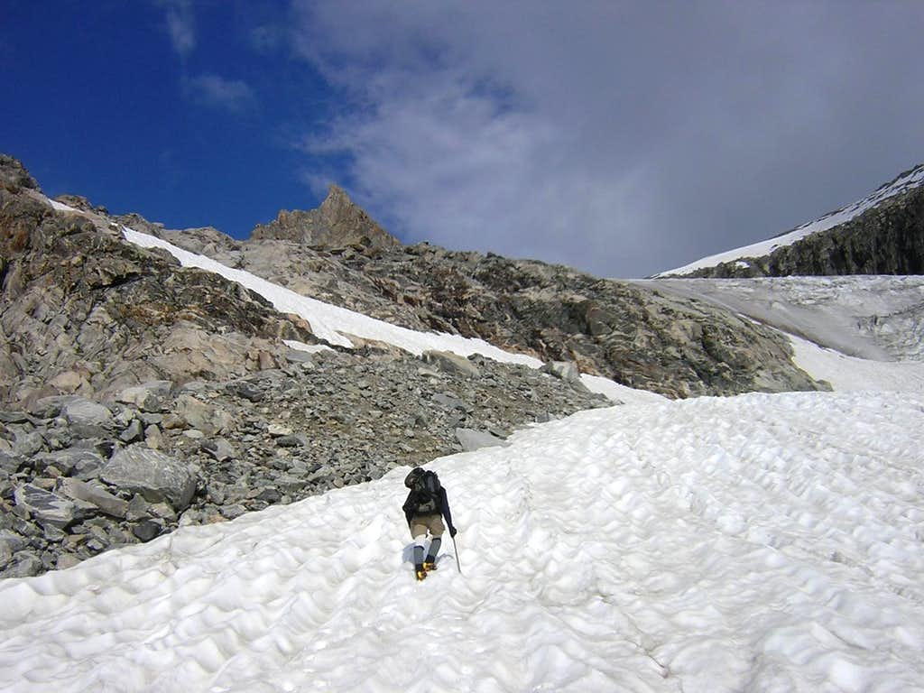 Heading Up The Gooseneck Glacier