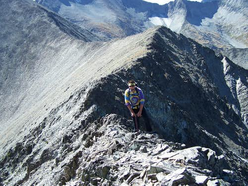Climbing the Western Ridge of Crazy Peak