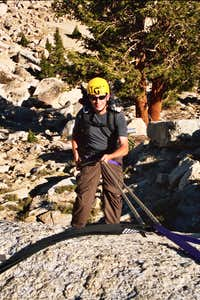 Andy Rappelling