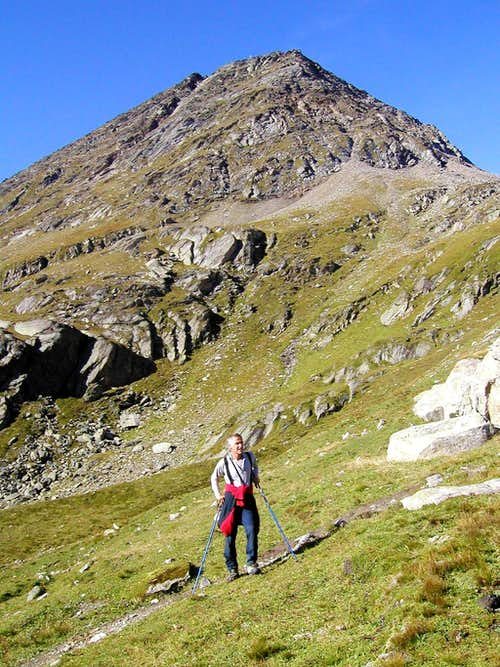 Rostocker Egge, 2749m from the north approach.