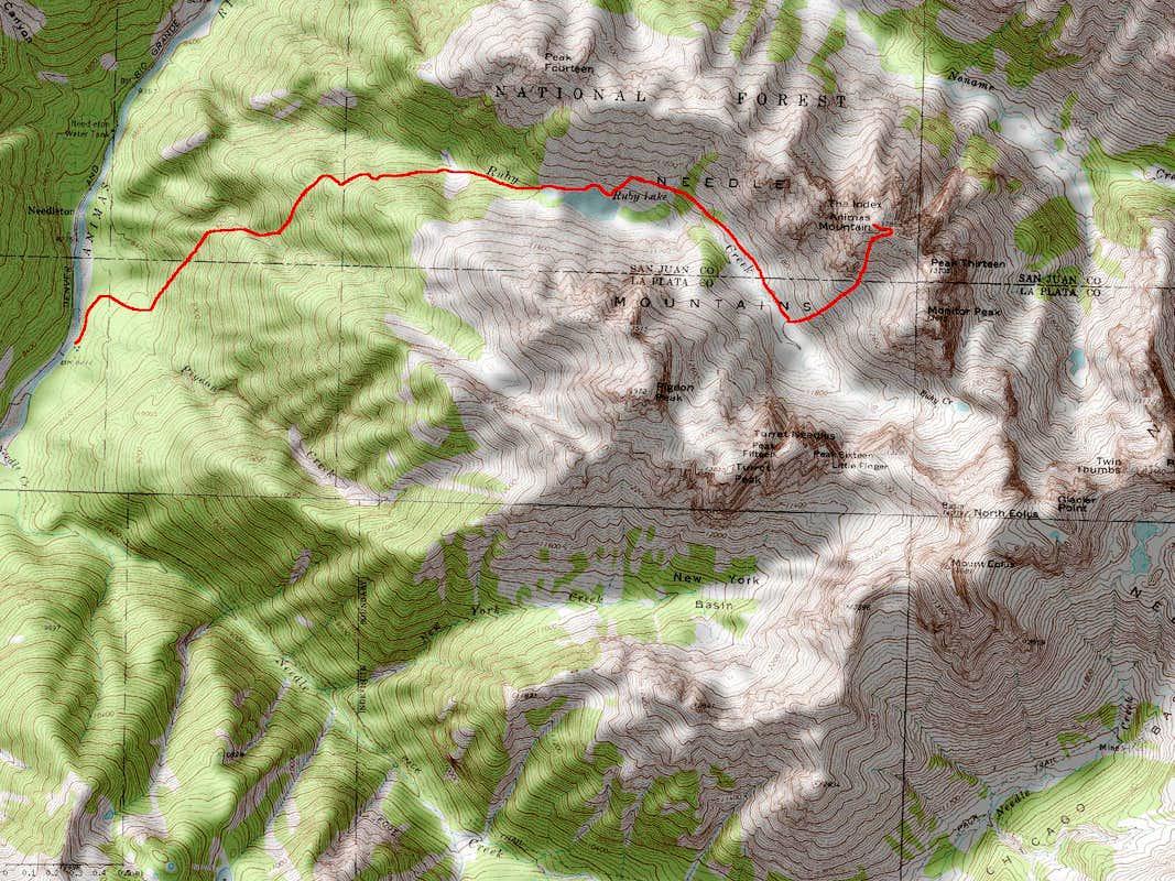 Animas Mountain s Southeast Face Route