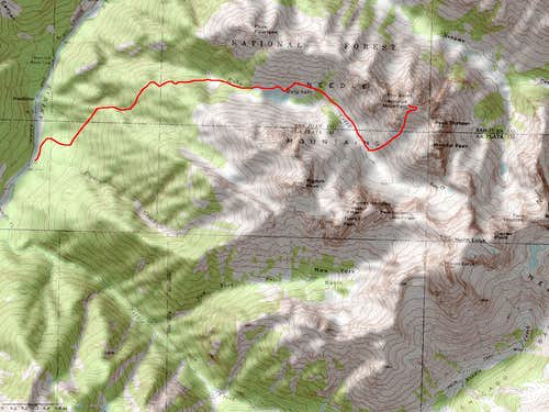 Animas Mountain\'s Southeast Face Route
