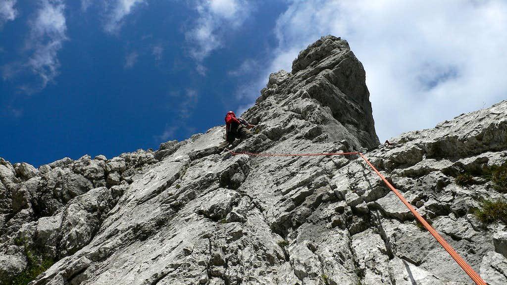 Climbing on the MaMa Kante