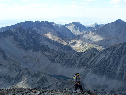 Summiting the false Summit of Crazy Peak