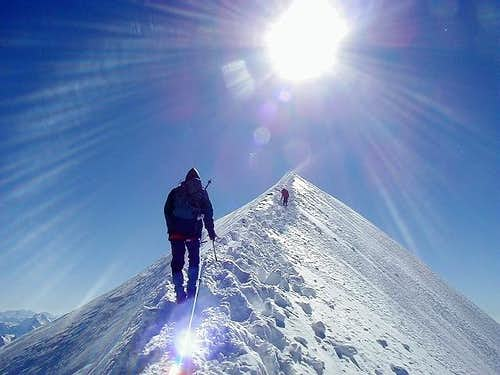 Nearing Mont Blanc summit