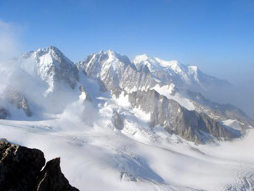 Summit view from Aiguille du Tour