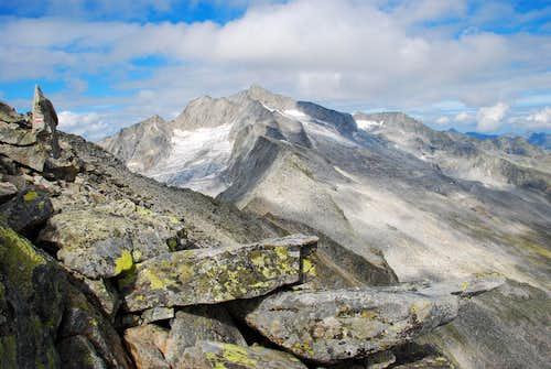 Hochalmspitze from Saeuleck SE-ridge