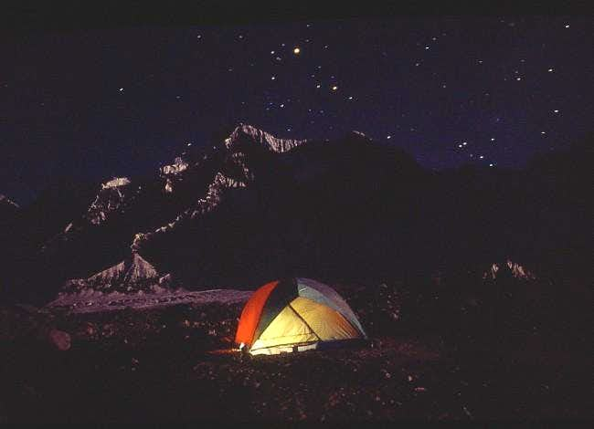 Base camp sleep tent under a...