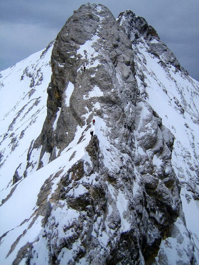 The east side of the Vollkarspitze