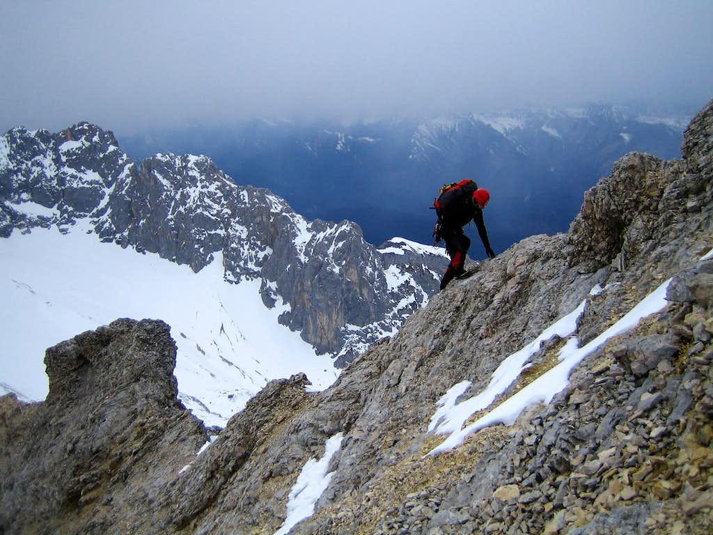 Balancing up the ridge