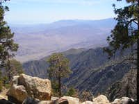Looking into the Coachella Valley