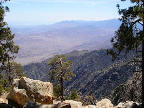 Looking into the Coachella Valley