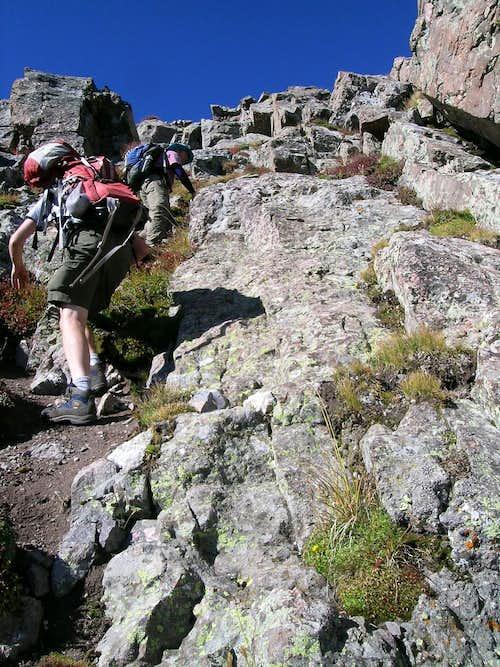 Steep Class 3 Tundra on Mount Adams