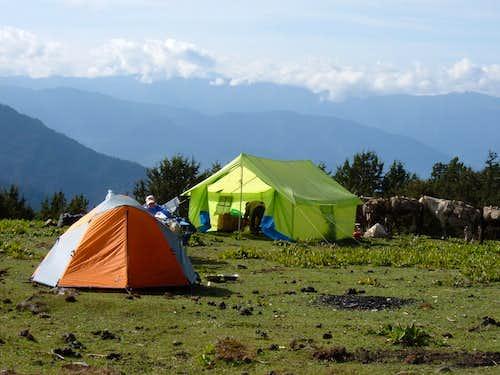 Campsite at Jili Dzong