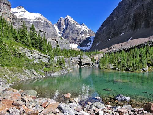 Above lake O\'Hara