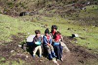 Yak herders family
