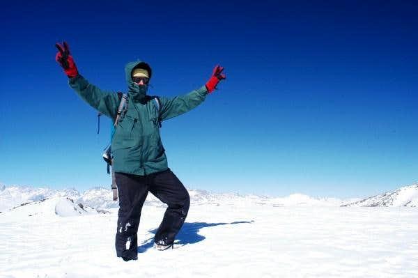 Summit of Cerro Provincia - Santiago de Chile.