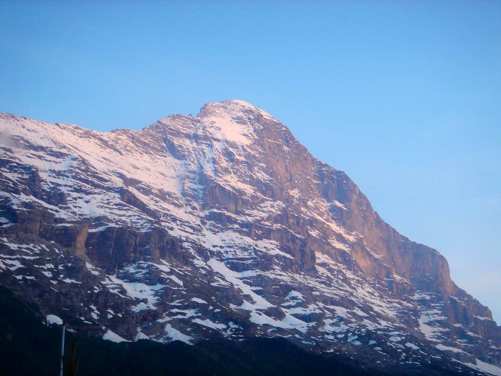 Eiger Nordwand at sunset