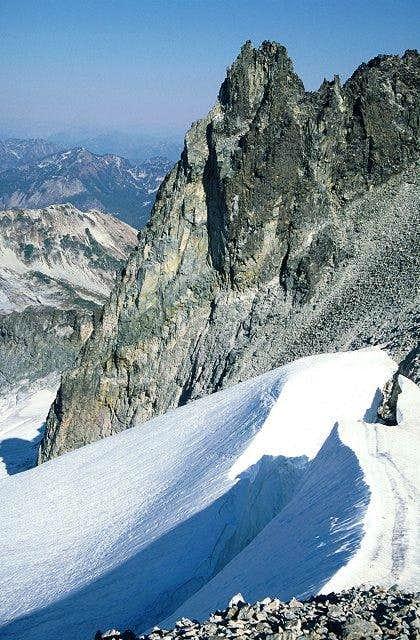 The middle peak of Mt. Daniel...