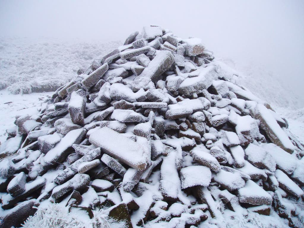 Frozen Summit Cairn