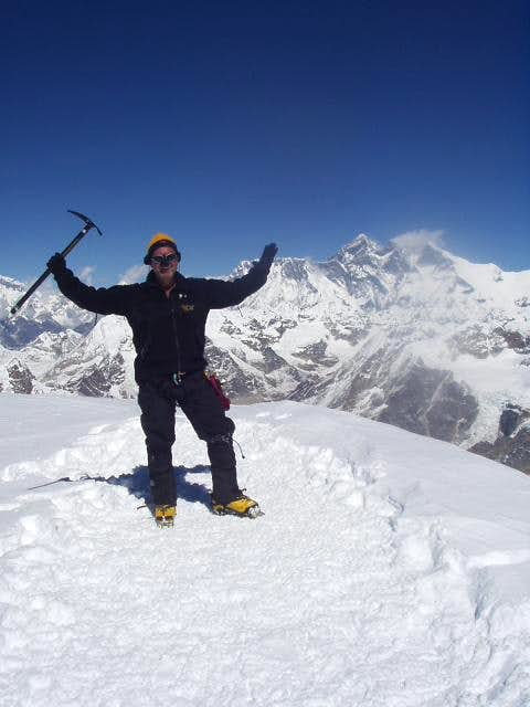 Me, on the 21,247 foot summit...