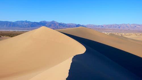 Along the ridge of the big dune