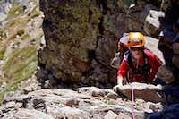 Jon Cruces (6 yrs.) Climbing 2nd. Chimney