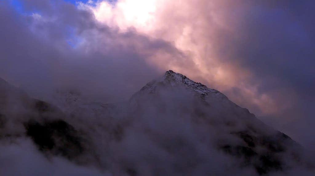 Storm on Becca di Nona