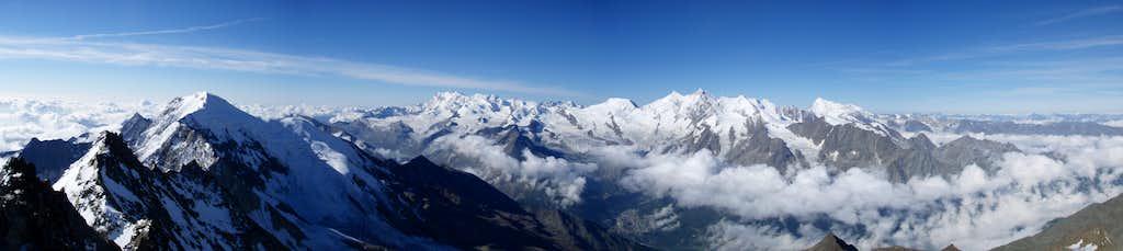 Summit panorama Lagginhorn