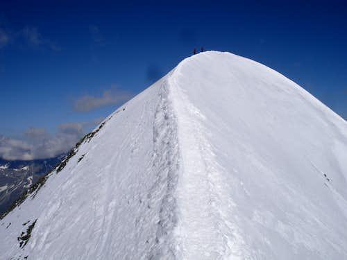 Breithorn main's east ridge